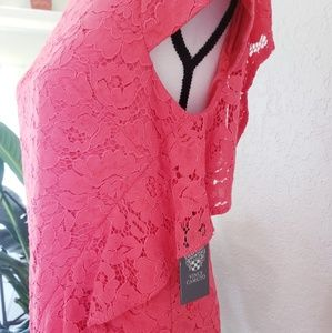 Vince Camuto Dresses - Women's Vince Camuto Coral Shift Dress Lace NWT